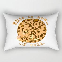 Rolling Cat - Bengal Rectangular Pillow