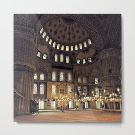 Sultan Ahmed Mosque interior Metal Print