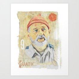 BILL MURRAY - ZISSOU Art Print