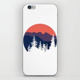 Mountain Sunset Orange and Purple Hues iPhone Skin