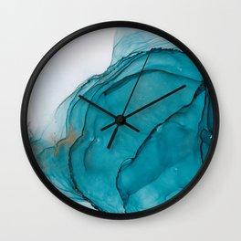 Alcohol Ink Ripple Wall Clock