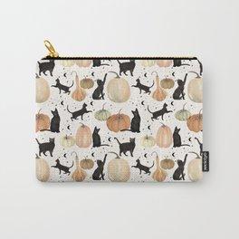 Black Cats Pumpkin Patch Fall Halloween Pattern Carry-All Pouch