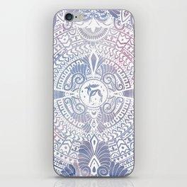 deer mandala (white) iPhone Skin