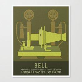 Science Posters - Alexander Graham Bell - Inventor, Engineer Canvas Print