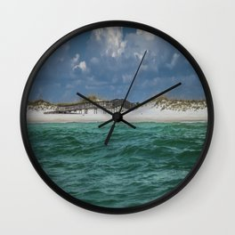 Boardwalk At Shell Island  Wall Clock