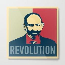 Duxov. Nikol Pashinyan. Armenian revolution. #society6 #decor #buyart #artprint Metal Print