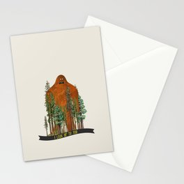 I Look up to You (Bigfoot in the Forest) Stationery Cards