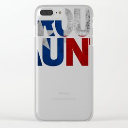 Aunt Design and Texas Design Aunt Design Texas Flag shirt Clear iPhone Case