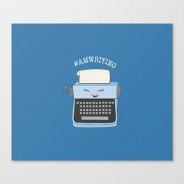 #AmWriting Canvas Print