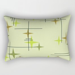 Mid Century Modern Stars Chartreuse Rectangular Pillow