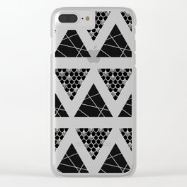 Split Diamonds Zentangle Clear iPhone Case