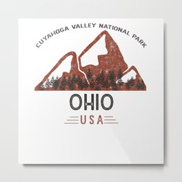 Vintage Cuyahoga Valley National Park Metal Print
