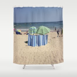 Twin Umbrella's and the Sun! Shower Curtain