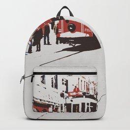tram in Beyoglu Backpack