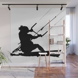 Wakeboarder Water Sport Silhouette Wall Mural