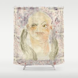 Gurning Man Champion Shower Curtain