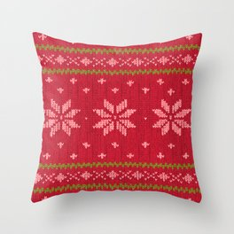 Winter Lovers Christmas Throw Pillow