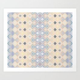 Diamond Elegant Neo-Tribal Geometric Art Print