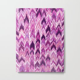 PLUM UP UP UP CHEVRON Metal Print