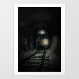 Mysterious trip Art Print