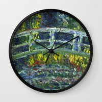 monet Wall Clocks featuring Monet Interpretation by Britt Miller Art