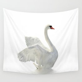 WHITE ON WHITE-BEAUTIFUL SWAN Wall Tapestry