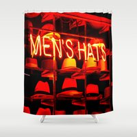hats Shower Curtains featuring Men's Hats by Wanker & Wanker