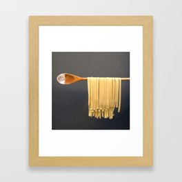 Wooden Spoon and Pasta Framed Art Print