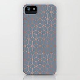 Gold Cubes 7 iPhone Case