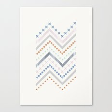 Mixed Zig Zag - in Cobalt Canvas Print