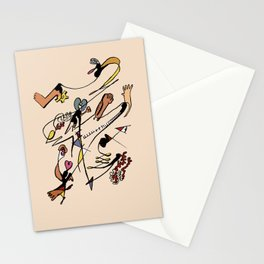 human's fall Stationery Cards