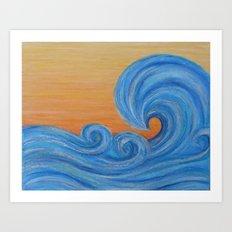 Sea Ya Later surf wave art painting Art Print