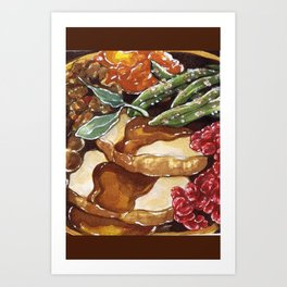 Turkey Dinner Art Print
