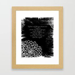Charles Baudelaire - The Temptation - She consoles me like the night Framed Art Print