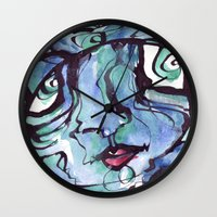 chill Wall Clocks featuring Chill by 5wingerone