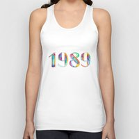 1989 Tank Tops featuring 1989 by Christina Guo