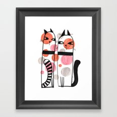 SPOTTED CATS Framed Art Print