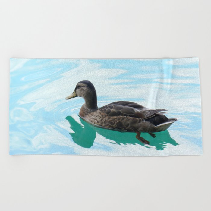 duck and lake Beach Towel