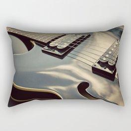 Black Guitar. Rectangular Pillow