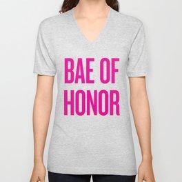 Bae Of Honor - Wedding Bridesmaid Bachelorette Party Design Unisex V-Neck