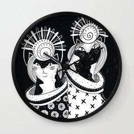 Cat Walk Shell Head Wall Clock