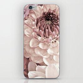 Romantic Pastel Dahlias iPhone Skin