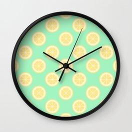 When Life Gives You Lemons Print Wall Clock
