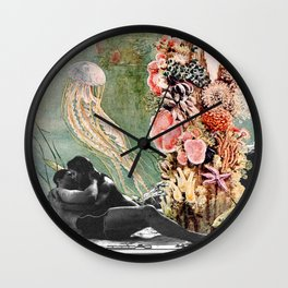 First Kiss Underwater Wall Clock