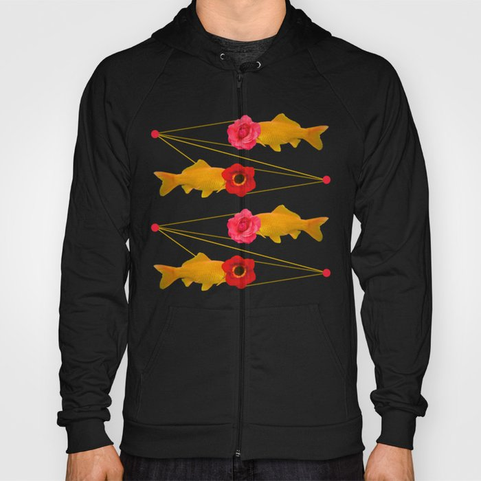 fishes and flowers Hoody