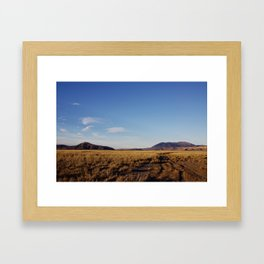 Golden Steppes Framed Art Print