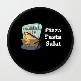 Pizza, Pasta, Salad, Wall Clock