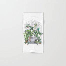greenhouse illustration Hand & Bath Towel