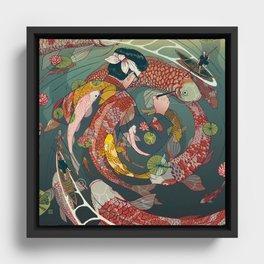 Ukiyo-e tale: The creative circle Framed Canvas