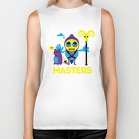 skeletor Biker Tanks featuring SKELETOR by Maioriz Home